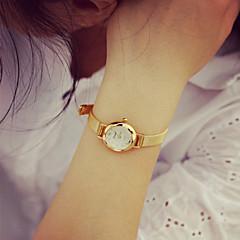 נשים לצפות בשעון יד צמידי אופנת רצועת שעון זהב