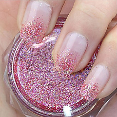 Red Glitter Powder Nail Art Decorations