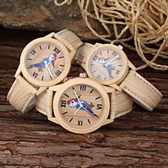 familiy set ouder-kind ongedwongen horloge cartoon vogel khaki pu band polshorloge