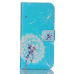銀河S3 / S4 / S5 / S6 / s6edge / S3ミニ/ S4ミニ/ S5ミニ青タンポポパターンPUレザー塗装電話ケース