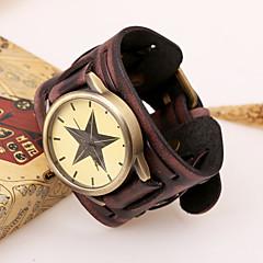 Мужской Модные часы Кварцевый Кожа Группа Черный / Коричневый бренд-