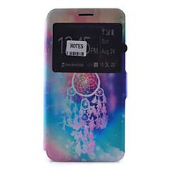 Voor Samsung Galaxy Note Kaarthouder / met standaard / met venster / Flip / Patroon hoesje Volledige behuizing hoesje Dromenvanger Zacht