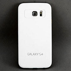 White PC Shockproof and Anti-wresting Back Cover Case for Samsung Galaxy S6