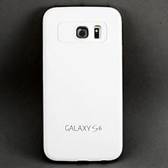 pc branco à prova de choque e anti-arrancando volta caso capa para Samsung Galaxy S6