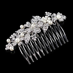 Vintage Charming Design Wedding Bride  Starfish Headband Cown Crystal And Pearls Hair Accessior