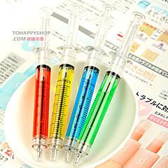sprøyte penn kanyle tube kulepenn legen sykepleier moro (tilfeldig farge)