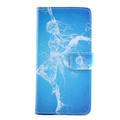 Varten Samsung Galaxy Note Lomapkko / Korttikotelo / Tuella / Flip Etui Kokonaan peittävä Etui Seksikäs nainen Tekonahka SamsungNote 4 /