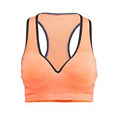 Mulheres Sustentação Média Sutiã Esportivo Secagem Rápida Permeável á Humidade Respirável Compressão Sutiã Esportivo para Ioga Pilates
