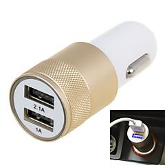 2.1a dobbelt port usb universal hurtig bil oplader adapter (12-24V) (assorterede farver)
