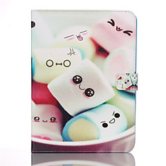 Cotton Candy Pattern PU Leather Full Body Case with Card Slot And Stand Cover Case for Samsung T530/T550