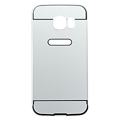 Silver PC Shockproof and Anti-wresting Back Cover Case for Samsung Galaxy S6