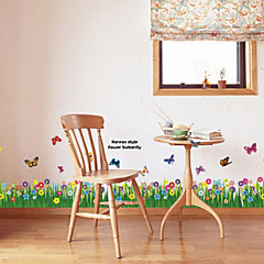 multifunctionele diy pvc gras en vlinders patroon decoratieve stickers