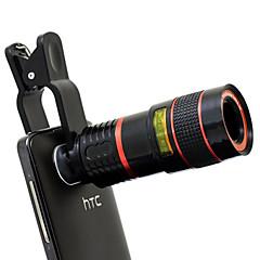 apexel clip-on universell 8x teleskop fokusera kameralinsen för samsung galaxy / not och mobiltelefoner