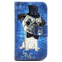 model câine pu piele TPU caz corp plin cu suport de card pentru Samsung Galaxy core prim g360