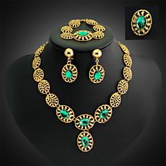 Vintage / Party - Nő - Nyaklánc / Fülbevaló / Karkötő / Gyűrű (Aranyozott / Ötvözet / Stassz / Drágakő és kristály)