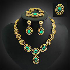 Vintage / Feest - Ketting / Oorbel / Armband / Ring (Verguld / Legering / Strass / Edelsteen & Kristal)voor Dames