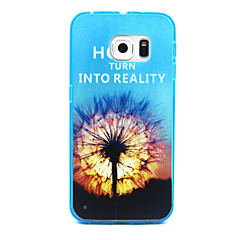 Dandelion Pattern Transparent PC and TPU Combo Phone Case for Samsung Galaxy S6/S5/S4/S3/S6edge