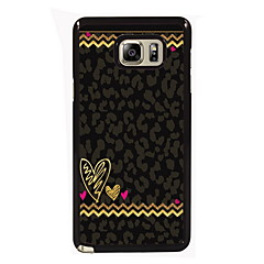 For Samsung Galaxy Note Etuier Mønster Bagcover Etui Linjeret / bølget PC for Samsung Note 5 Edge Note 5 Note 4 Note 3