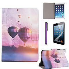 kuumailmapallo pattern PU nahkainen Screen Protector ja stylus iPad mini 1/2/3