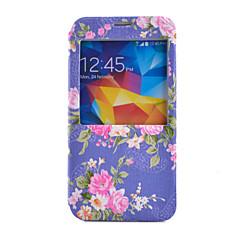 Na Samsung Galaxy Etui Etui na karty / Portfel / Z podpórką / Z okienkiem / Flip Kılıf Futerał Kılıf Kwiat Skóra PU SamsungS6 / S5 Mini /
