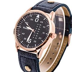 dos homens do relógio de forma assistir estilo simples mostrador redondo de ouro
