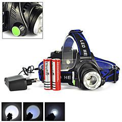 rechargeable 2500LM xml t6 conduit mode projecteur zoomable phare + 2x18650 + chargeur