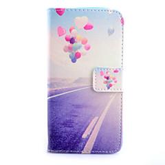 Mert Samsung Galaxy tok Kártyatartó / Pénztárca / Állvánnyal / Flip Case Teljes védelem Case Léggömb Műbőr SamsungS6 edge / S6 / S5 / S4