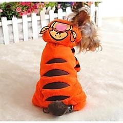 Naranja - Boda/Cosplay - Algodón/Polar Fleece - Abrigos/Pantalones/Saco y Capucha - Perros/Gatos -