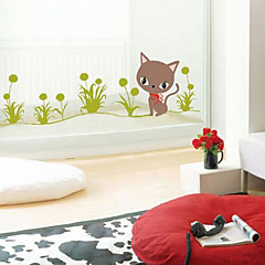multifunctionele diy pvc gras en kittens patroon decoratieve stickers