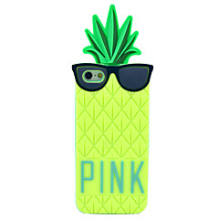 Wear Glasses Pineapple Pattern Silicone Soft Case for iPhone 5/5S (Optional Colors)
