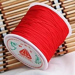 40m de largo cable de nudo chino rattail nylon rojo hilo 1mm caliente