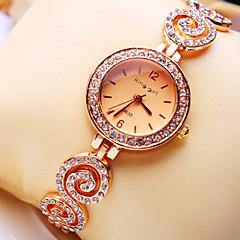 Women's New Luxury Trend Round Diamond Dial Diamond Strap Fashion Quartz Bracelet Watch (Assorted Colors)
