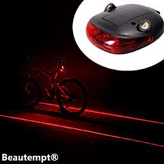 Cykellys Baglygte til cykel LED Laser Cykling Vanntett Nedslags Resistent AAA Lumen Batteri Cykling-Belysning