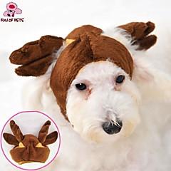 Gatos / Perros Disfraces / Accesorios / Bandanas y Sombreros Marrón Ropa para Perro Invierno Boda / Cosplay / Halloween