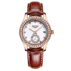 GUANQIN® Women Watch Luxury Brand Luminous Waterproof Fashion diamond Ultra-thin Quartz Genuine Leather Wristwatch Cool Watcheses With Watch Box