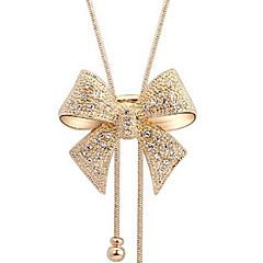 Dame Halskædevedhæng Butterfly Form Imitation Diamond Legering Elegant luksus smykker Guld Smykker For