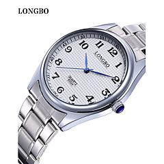 Masculino / Mulheres / Casal Relógio de Moda Quartz Impermeável Aço Inoxidável Banda Branco marca- LONGBO
