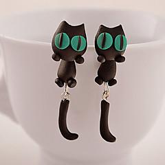 HUALUO®Creative Handmade Clay Animal Cat Earrings