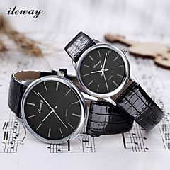ILEWAY® Fashion Couple Watch Quartz Watches Exquisiteness Waterproof  HONGKONG's Brand Cool Watches Unique Watches