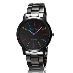 New Black Steel Business Male Table Quartz Watch Fashionable High-Grade Students Wrist Watch Cool Watch Unique Watch