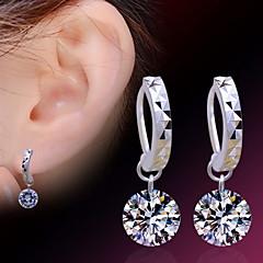 Earring Stud Earrings Jewelry Women Birthstones Daily / Casual / Sports Sterling Silver / Zircon 2pcs Silver