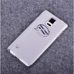 rör inte min telefon mönstrar pc hårda fallet för Samsung not 2 / not 3 / not 3 Lite / not 4 / not 5 / not kanten