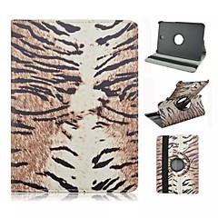 padrão de leopardo grão pu couro caso de corpo inteiro com suporte para Samsung Galaxy Tab 8.0 s2 T715 / guia s2 9,7 t815