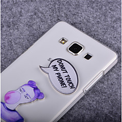 Don't Touch My Phone Pattern PC Hard Case for Samsung S7580/G130/7390/G530/9060/G360/G350/G355/G313/G386F/J1/J5/G850