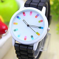 Kinderen Modieus horloge Kwarts PU Band Zwart Wit Blauw Rood Orange Groen Roze Paars Geel Rood Groen Roze Navy Lichtblauw