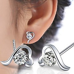 WH  Woman Love At First Sight Heart Stud Earrings