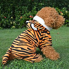 Perros Abrigos Rojo / Negro Primavera/Otoño Animal / Caricaturas Leopardo