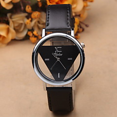 Retro Fashion Simple Hollow Inverted Triangle Color Casual Belt Male And Female Students Table Cool Watches Unique Watches