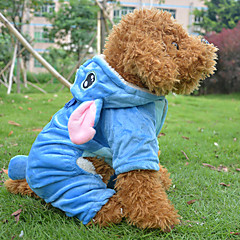 Dog Costume / Coat Blue Winter Animal / Cartoon Cosplay / Halloween