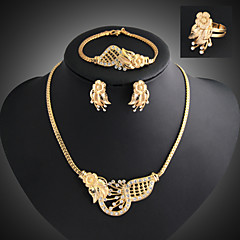 Women Vintage / Party / Casual Alloy / Cubic Zirconia Necklace / Earrings / Bracelet / Ring Sets